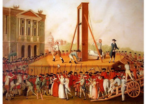 Marie Antoinette's execution in 1793 at the Place de la Révolut